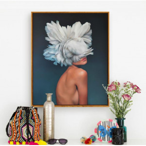 Картина Девушка в цветах №602