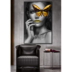 Картина Девушка с бабочкой №603