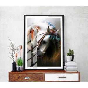 Картина Пестрая лошадь №612