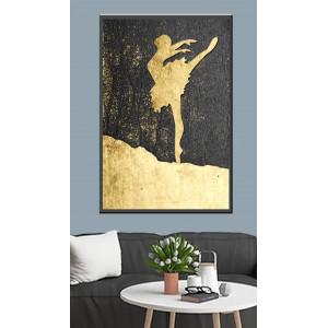 Картина Балерина на золоте №613