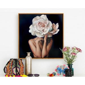 Картина Девушка с цветком на голове №617