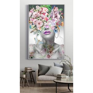 Картина Девушка с цветами на голове №626