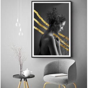 Картина Портрет девушки с золотм №627