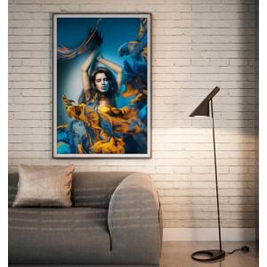 Картина Девушка в желтых красках №629