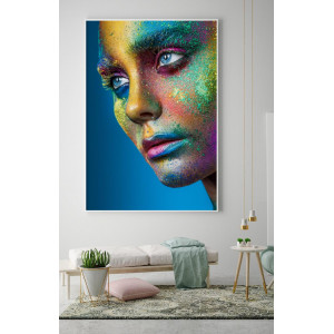 Картина Портрет девушки в красках №631
