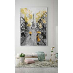 Картина Серо-желтый Париж №635