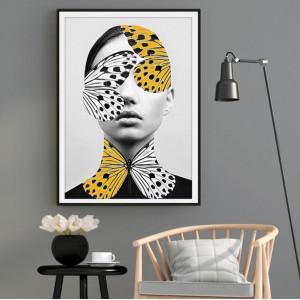 Картина Девушка в бабочках №648