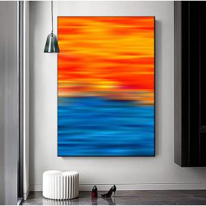 Картина Сине-оранжевая абстракция №651