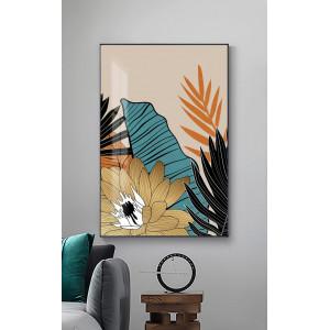 Картина Цветы на бежевом фоне №655