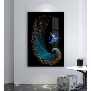 Картина Абстракция с колибри №662