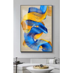 Картина Желто-синяя абстракция №665