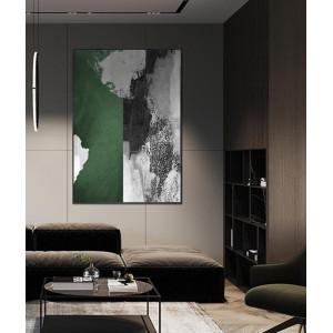 Картина Бело-зеленая краска №669