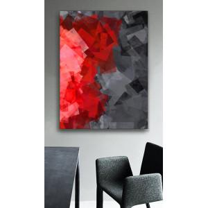 Картина Черно-красные прямоугольники №670