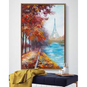 Картина Пейзаж Парижа осенью №673