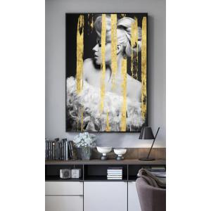 Картина Девушка с золотом №676