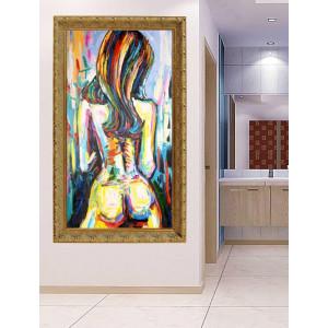 Картина Девушка акварелью №684