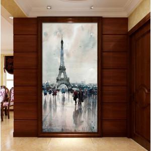 Картина Долждь в Париже №685