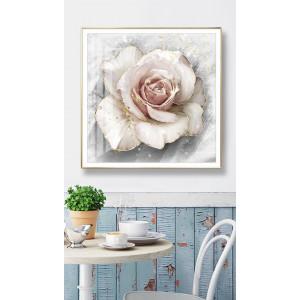 Картина Белая роза №689