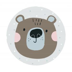 Ковер в детскую Милый мишка