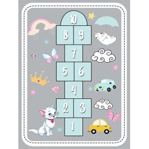 Детский ковер классики на сером фоне