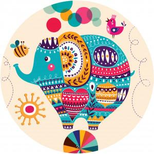 Ковер в детскую Цирковой слон