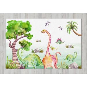 Ковер в детскую Динозавры едят листву