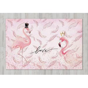 Ковер в детскую Фламинго в перьях