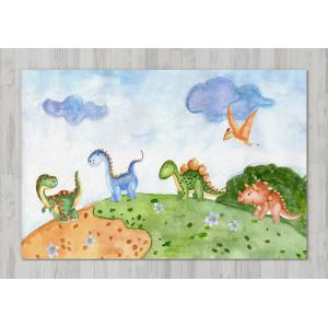 Ковер в детскую Динозавры на прогулке