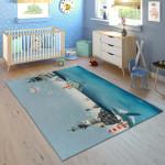 Ковер в детскую Киты в синем море