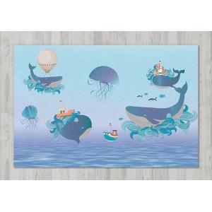 Ковер в детскую Летающие киты