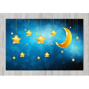 Ковер в детскую Звезды и Луна