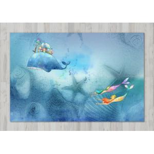 Ковер в детскую Кит и русалки