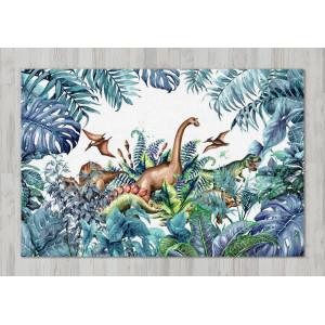 Ковер в детскую Динозавры в зарослях