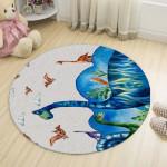 Ковер в детскую Синий динозавр