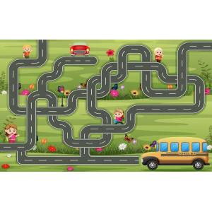 Ковер детский с дорогами для машинок №251