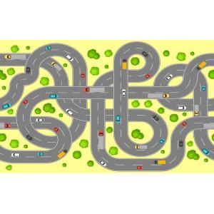 Ковер в детскую Переплетение дорог