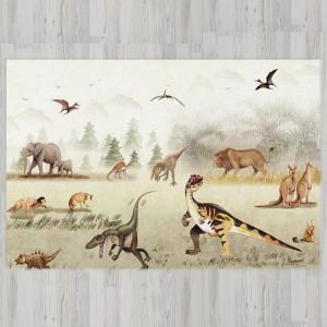 Ковер в детскую Динозавры на поляне