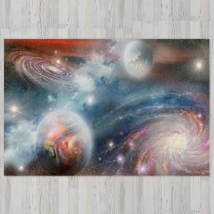 Ковер в детскую Галактика Млечный путь