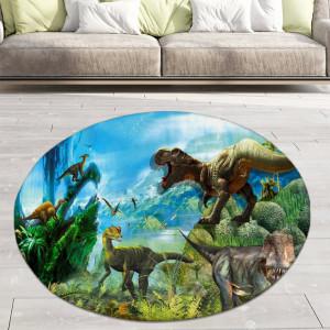 Ковер в детскую Динозавры в джунглях