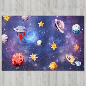 Ковер в детскую Звезды с летающими тарелками