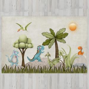 Ковер в детскую Динозавры на опушке