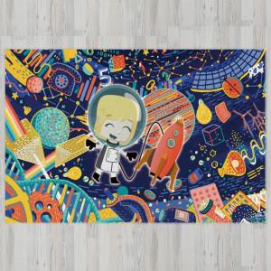 Ковер в детскую Ребенок в космосе