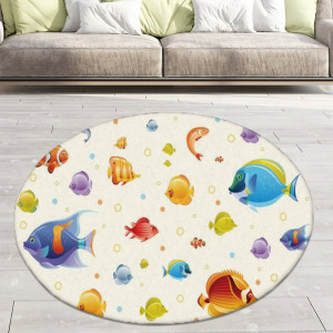 Ковер в детскую Рыбки с пузырьками