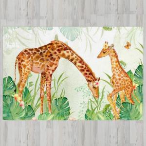 Ковер в детскую Жирафы в джунглях