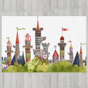 Ковер в детскую Замок с рыцарем