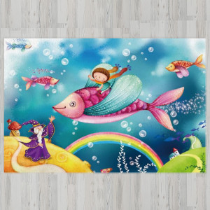 Ковер в детскую Верхом на рыбе