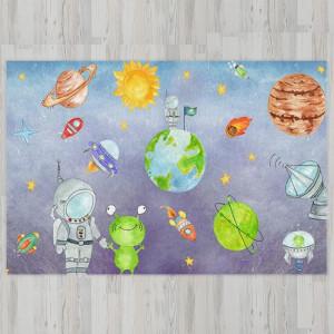 Ковер в детскую Космонавты с инопланетянами