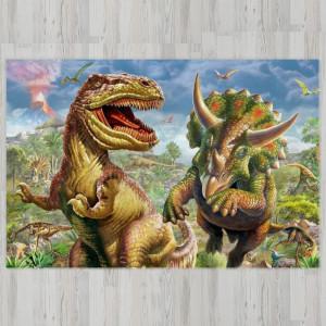 Ковер в детскую Тиранозавр с Трицератопсом
