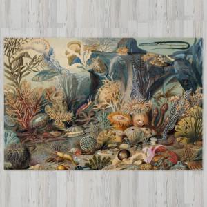 Ковер в детскую Подводный пейзажс ракушками