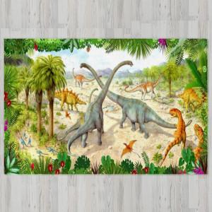 Ковер в детскую Диплодоки в джунглях